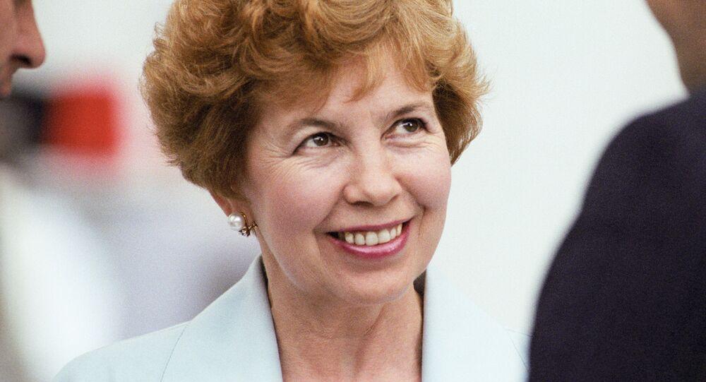 Raísa Gorbachova, esposa del primer y único presidente de la Unión Soviética, Mijaíl Gorbachov