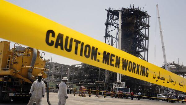 Los empleados de Saudi Aramco tras los ataques - Sputnik Mundo