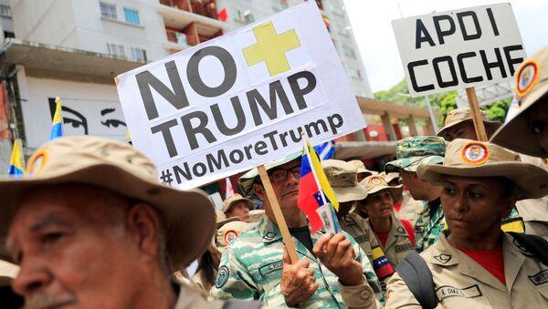 La campaña 'No más Trump' en Venezuela - Sputnik Mundo