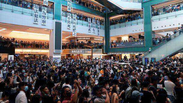 Las protestas de Hong Kong dentro de un centro comercial - Sputnik Mundo