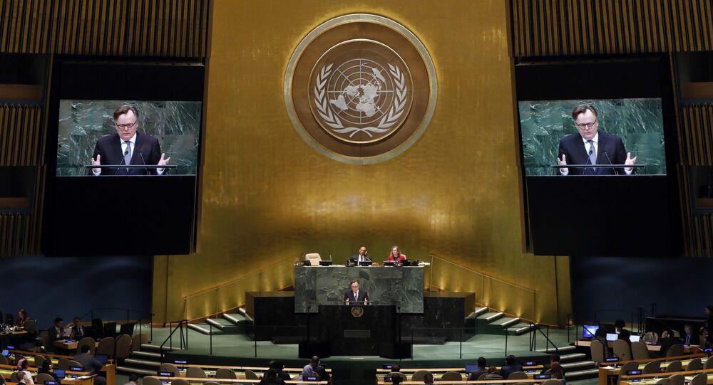 Una sesión de la Asamblea General de las Naciones Unidas (archivo)