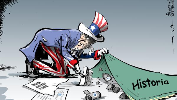 El 'Tío Sam' esconde bajo la alfombra las bombas de Israel - Sputnik Mundo