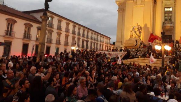 Protestas en Río de Janeiro, Brasil - Sputnik Mundo