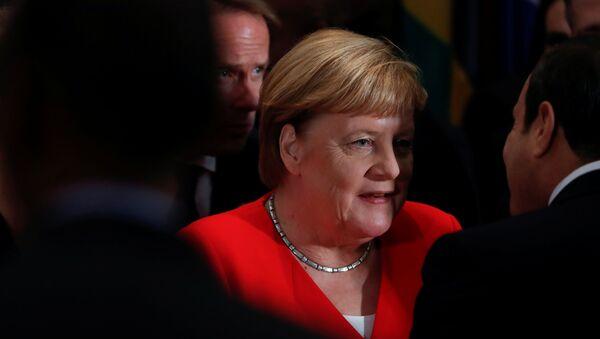 Angela Merkel, la canciller alemana, en la Asamblea General de la ONU - Sputnik Mundo