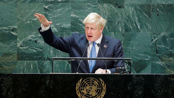 Boris Johnson, primer ministro británico - Sputnik Mundo