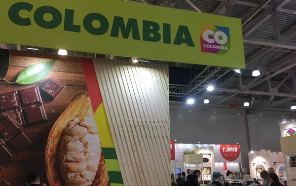 El stand de Colombia en la feria WorldFood en Moscú, Rusia - Sputnik Mundo
