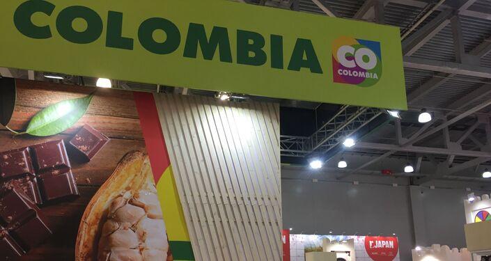 El stand de Colombia en la feria WorldFood en Moscú, Rusia