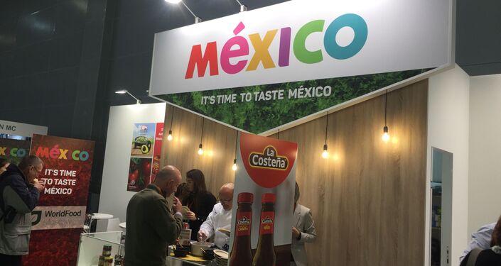 El stand de México en feria WorldFood en Moscú, Rusia