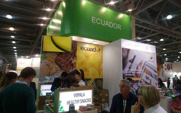 El stand de Ecuador en la feria WorldFood en Moscú, Rusia - Sputnik Mundo
