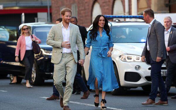 El príncipe Enrique y su esposa, Meghan, en Sudáfrica - Sputnik Mundo