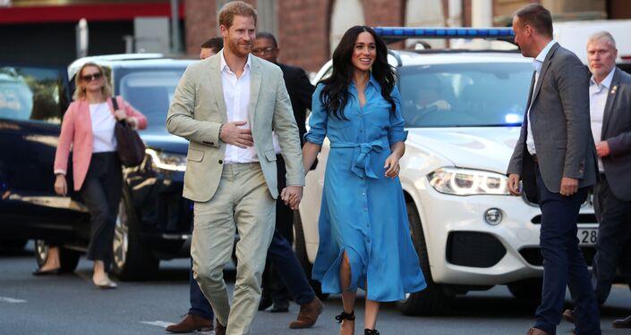 El príncipe Enrique y su esposa, Meghan, en Sudáfrica