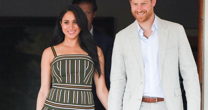 Meghan y el príncipe Enrique en Sudáfrica