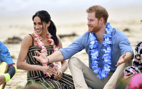Meghan y el príncipe Enrique en Australia, el 19 de octubre de 2018 - Sputnik Mundo