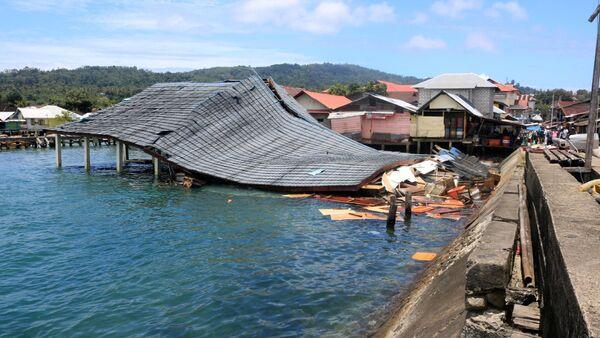 Consecuencias del terremoto en Indonesia - Sputnik Mundo