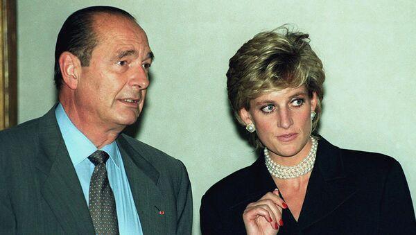 El expresidente de Francia Jacques Chirac y Lady Diana, la princesa de Gales - Sputnik Mundo