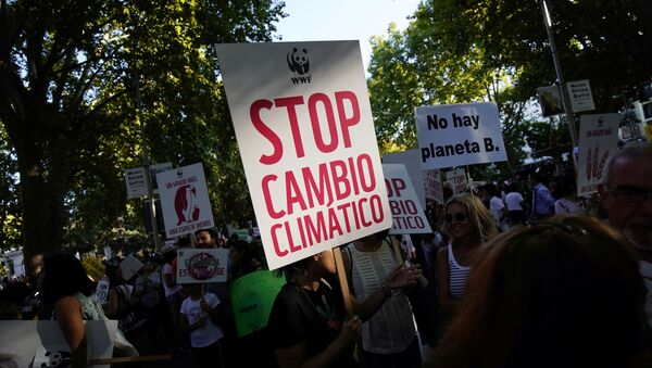 La huelga climática en Madrid - Sputnik Mundo
