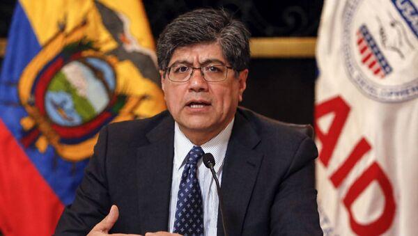 José Valencia, el canciller de Ecuador - Sputnik Mundo