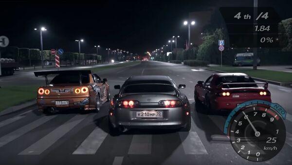 Recreación del videojuego Need For Speed - Sputnik Mundo