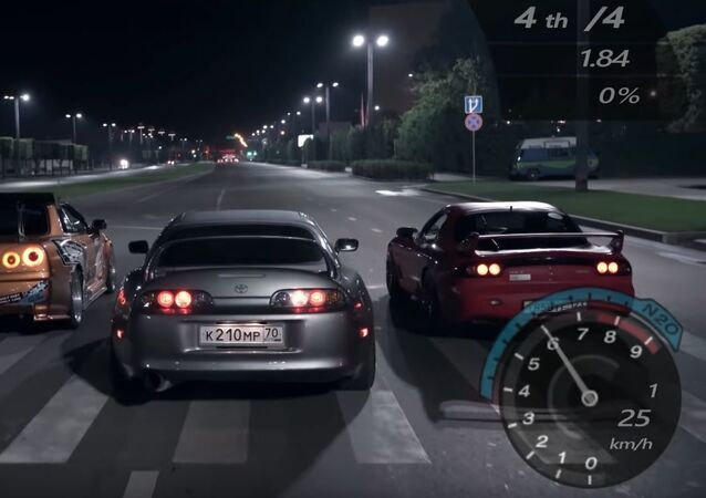 Recreación del videojuego Need For Speed