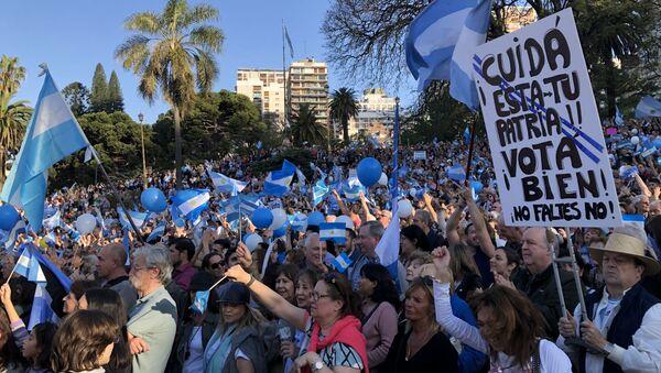 Acto de campaña de Macri en Buenos Aires, Argentina - Sputnik Mundo