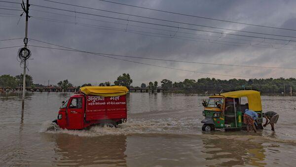 Inundación en la India - Sputnik Mundo