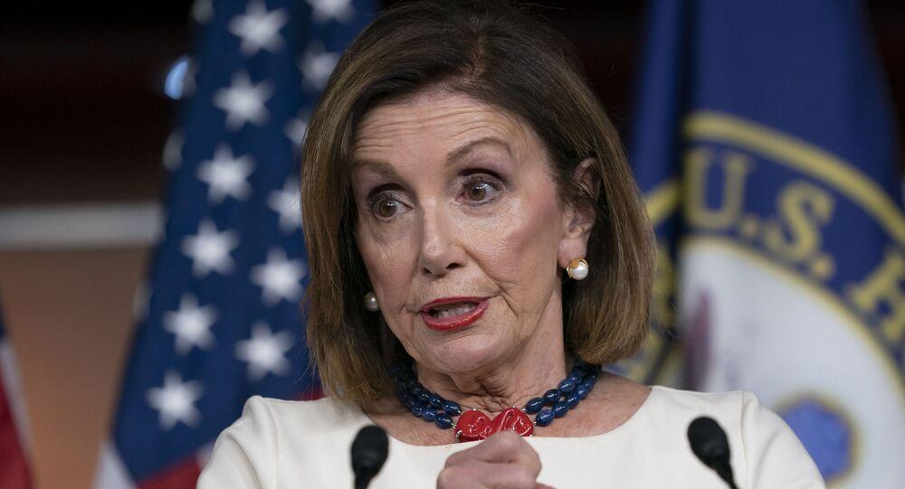 Nancy Pelosi, la presidenta de la Cámara Baja.