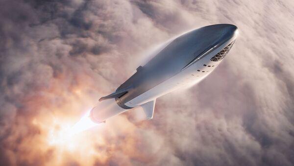 Cohete Falcon Super Heavy despega con la nave Starship - Sputnik Mundo