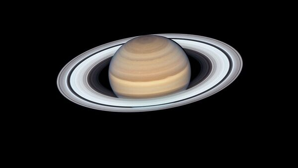 Снимок Сатурна, сделанный при помощи телескопа Хаббл - Sputnik Mundo
