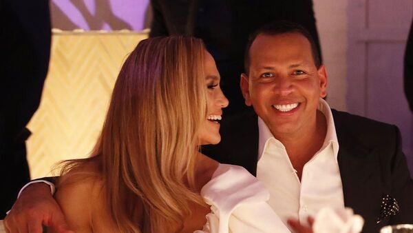 Jennifer Lopez y Alex Rodriguez - Sputnik Mundo
