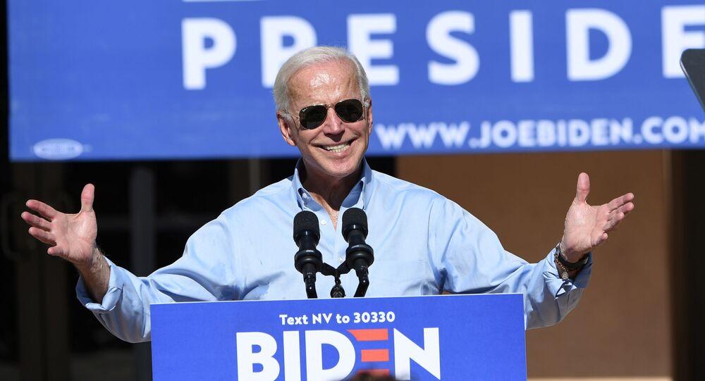 El demócrata Joe Biden durante la campaña presidencial