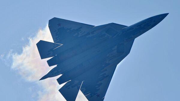 El caza de quinta generación ruso Su-57 - Sputnik Mundo