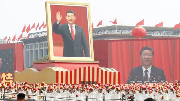 Xi Jinping, el presidente chino durante el 70 aniversario de la fundación de la República Popular China - Sputnik Mundo