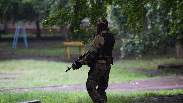 Un combatiente de de las Fuerzas de Seguridad de la República Popular de Donetsk - Sputnik Mundo