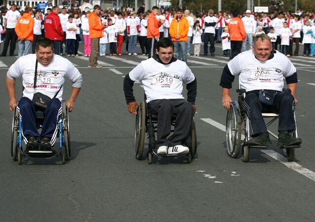 Un maratón en sillas de ruedas (archivo)