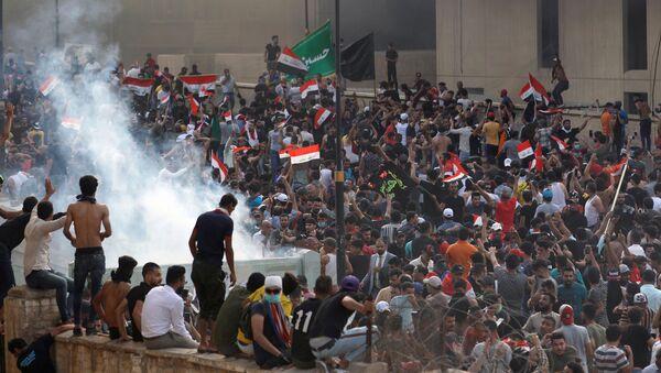 Las protestas en Bagdad - Sputnik Mundo