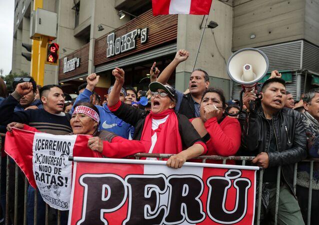 Los partidarios del presidente peruano Martín Vizcarra