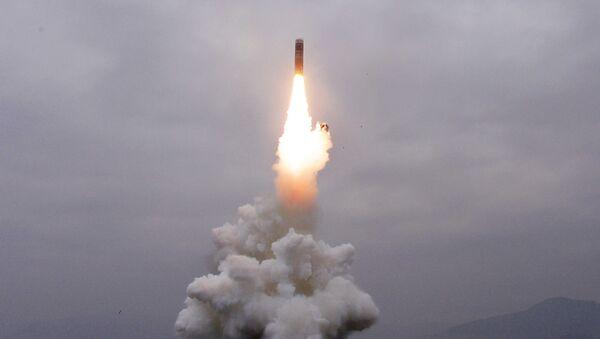 Lanzamiento de un misil de Corea del Norte - Sputnik Mundo