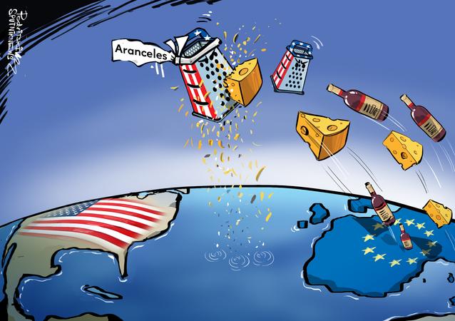 Los aranceles estadounidenses amenazan al queso y al vino de Europa