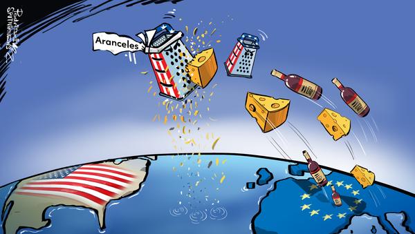 Los aranceles estadounidenses amenazan al queso y al vino de Europa - Sputnik Mundo