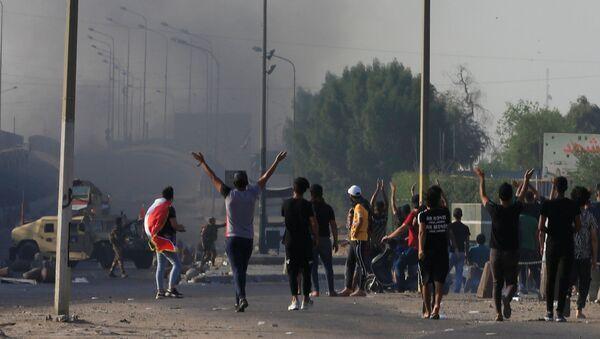 Las protestas en Irak - Sputnik Mundo