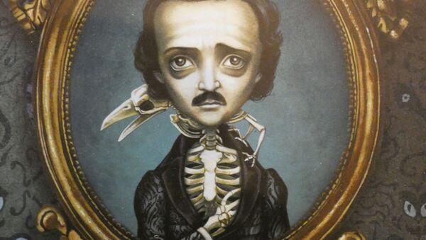 Caricatura de Edgar Allan Poe - Sputnik Mundo