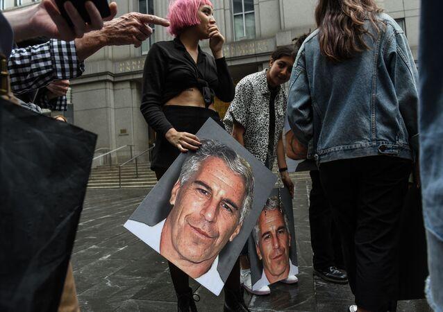 Retrato del multimillonario estadounidense Jeffrey Epstein