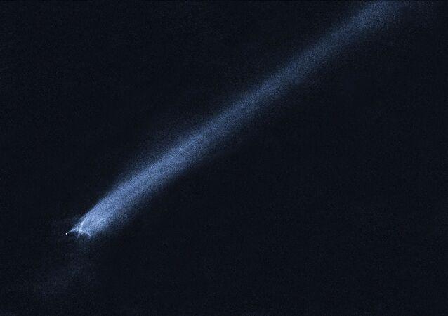 Cola de un asteroide (imagen referencial)