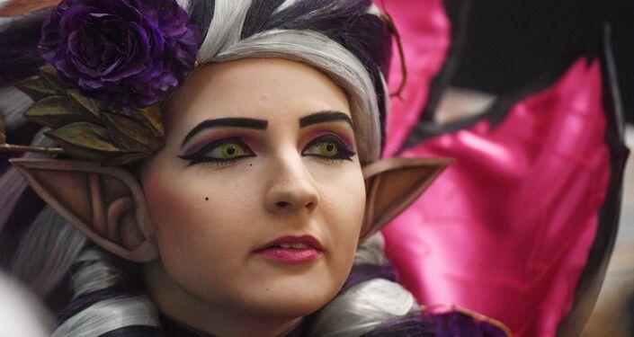 Una 'cosplayer' en la Comic Con de Rusia de 2019