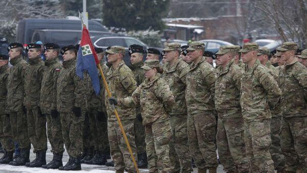 Soldados de EEUU en Polonia (archivo) - Sputnik Mundo
