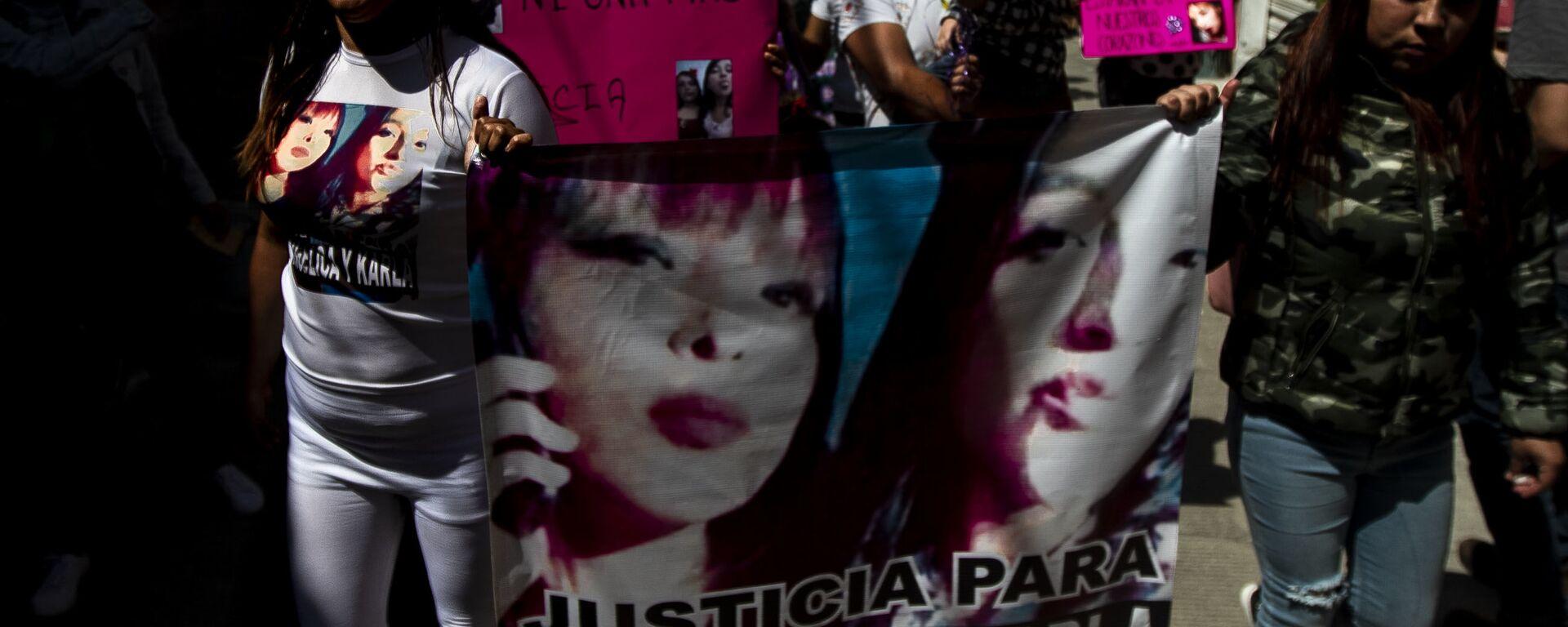 Familia de Angélica y Karla, madre e hija asesinadas en la colonia Jardines de Morelos, durante la caravana contra los feminicidios en Ecatepec, Estado de México - Sputnik Mundo, 1920, 07.10.2019