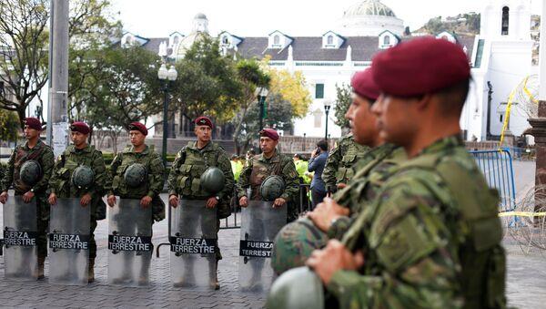 Militares de Ecuador - Sputnik Mundo
