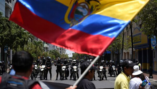 las protestas en Guayaquil, Ecuador - Sputnik Mundo