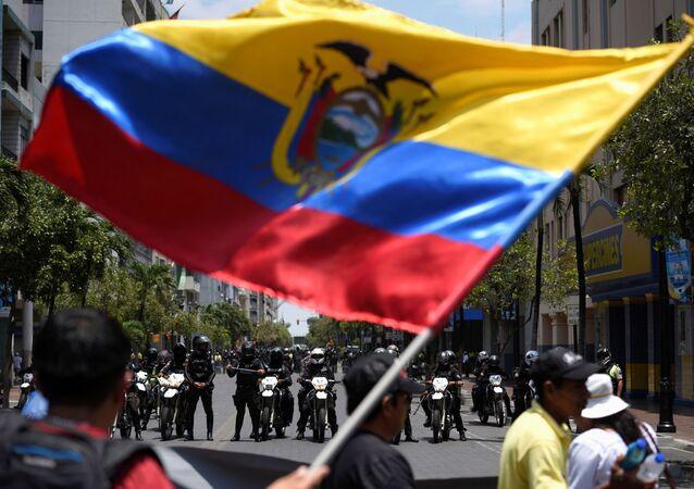 las protestas en Guayaquil, Ecuador