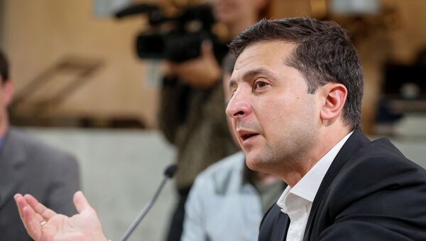 Volodímir Zelenski, el presidente de Ucrania - Sputnik Mundo